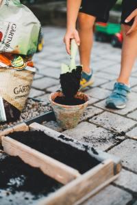carré potager bénéfices outil pédagogie enfants jardiner