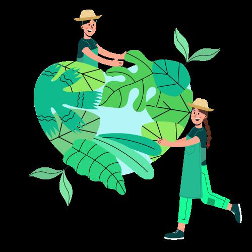 Terre solidarité humains transition écologique coeur partage écologie